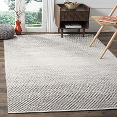 Shop for Safavieh Montauk Handmade Flatweave Light Grey/ Ivory Cotton Rug (8' x 10'). Get free shipping at Overstock.com - Your Online Home Decor Outlet Store! Get 5% in rewards with Club O!