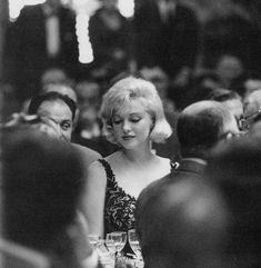 Marilyn Monroe at a dinner held for Nikita Khrushchev at 20th Century Fox Studios, September 19, 1959.