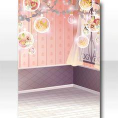 フレーム/背景 クローリアの小部屋の背景 ピンク