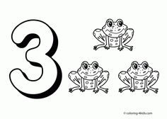 Free Number Coloring Pages | Miscellaneous Coloring Pages ...