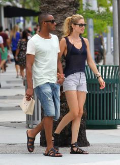 Doutzen Kroes goes shopping with her husband Sunnery James in Miami, June 19 2012