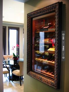 Cigar Rooms – Built in humidor for the cigar afficionado. This cigar humidor is a bit more stylish than a cabinet. I would love to store my cigars in one of these.