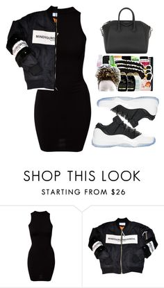 """""""BLK N WHTE"""" by alexanderbianca ❤ liked on Polyvore featuring River Island, Retrò and Givenchy"""