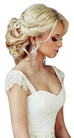HAIR EXTENSIONS CURLY MESSY DRAWSTRING UPDO FULL BUN IN SWEDISH BLONDE Vanessa Grey Designer Hairpieces http://www.amazon.com/dp/B00LX6AKIW/ref=cm_sw_r_pi_dp_5KJ-ub15N9FHE