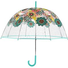 Vera Bradley Bubble Umbrella in Flower Shower found on Polyvore