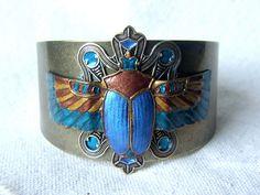 Cuff bracelet - Egyptian Beetle