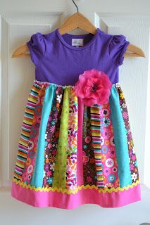 Little Quail: Little girls simple dress 4 way's; this one uses a jelly roll for the skirt