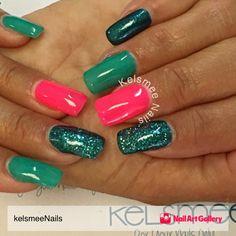Gel Nails With Gelish Overlay by kelsmeeNails