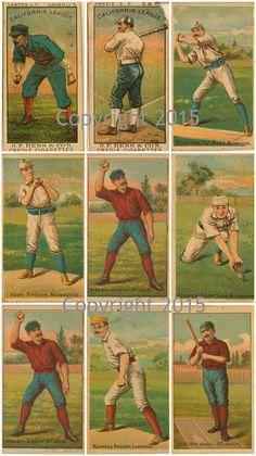 Printed Vintage Baseball Collage Sheet 101  by PaperRoseCottage
