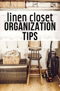 Linen Closet Organization Tips and Tricks - Organize your linen closet like a pro and keep it clean for a long time with these linen closet org - Linen Closet Organization, Bathroom Organization, Organization Hacks, Organization Ideas, Bathroom Ideas, Design Bathroom, Organizing Tips, Bathroom Interior, King Size Sheets