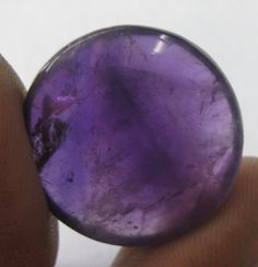 Amethyst Polished Stone Cabochon 24mm 2273 x1 by dimestoreemporium, $15.00