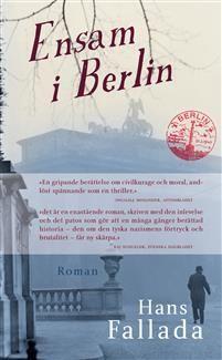 HANS FALLADA föddes 1893. Trots censur och politisk förföljelse valde han att stanna i Tyskland under kriget och räknas numera som en av landets verkligt betydelsefulla 1900-talsförfattare. Han dog 1947, några månader innan Ensam i Berlin (Jeder stirbt für sich allein) publicerades. Berättelsen är baserad på Falladas egna erfarenheter under nazismen och skrevs på några få veckor hösten 1946.
