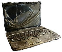 Burned laptop...I doubt the hard drive escaped this debacle...