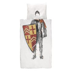 Bring fantasyto your child's bedroom with this Knight duvet set from Snurk. Featuring a photographic print of a knight ready for battle, including a helmet on the pillowcase, it adds fun to bed ti...
