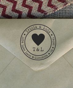 Stamp Out Online Big Heart Personalized Return Address Stamp | zulily