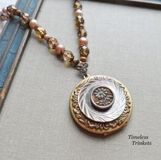 Tawny Daisy Antique Mother of Pearl and by TimelessTrinkets