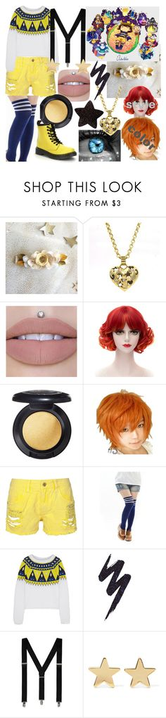 """Pandora Outertale OC"" by dappershadow ❤ liked on Polyvore featuring COS, MAC Cosmetics, Aimo Richly, Dr. Martens, Urban Decay, George and Jennifer Meyer Jewelry"