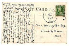 Antique Images: Postcard Back Image Digital Clip Art Background Il...