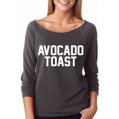 Avocado Toast, Women's Wideneck Shirt