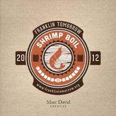Shrimp Boil Logo Fund raising event logo for a local non-profit organization. © 2012 Marc David Creative