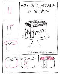 Drawing Doodles Sketches Learn to Draw a Cake in 6 Steps… : Learn To Draw Kawaii Drawings, Doodle Drawings, Easy Drawings, Doodle Art, Drawing Lessons, Drawing Techniques, Art Lessons, Drawing Tutorials, Drawing Ideas