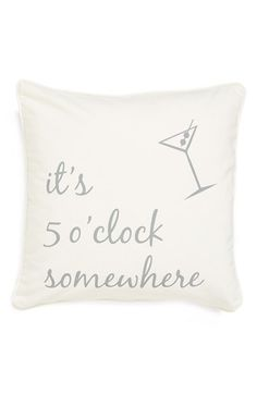 Levtex 'It's 5 o'Clock Somewhere' Accent Pillow available at #Nordstrom