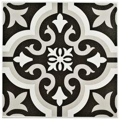 "Arya 9.75"" x 9.75"" Porcelain Field Tile in Black & Reviews   Joss & Main"