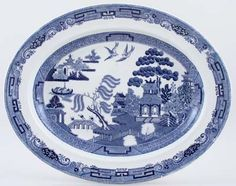 Meat Dish or Platter c1957  Wedgwood  Willow
