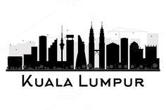 Kuala Lumpur City skyline silhouette by @Graphicsauthor