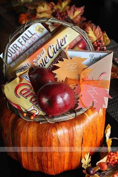 I fall for your gift basket, have an inexpensive seasonal basket at the ready to gather up last minute gifts