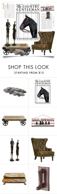 """""""The Country Gentleman"""" by ildiko-olsa ❤ liked on Polyvore featuring interior, interiors, interior design, home, home decor, interior decorating, Marmont Hill, Nordal and country"""
