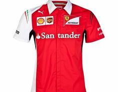 Puma Scuderia Ferrari Team Shirt Red 761461-01 The Scuderia Ferrari team shirt is the official replica of the item of clothing worn by the men of the Maranello team on the World F1 2014 race tracks, including the logo of the Team and of all the sp http://www.comparestoreprices.co.uk/sportswear/puma-scuderia-ferrari-team-shirt-red-761461-01.asp