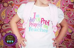It's My First Day of Pre K Please Pray For My Teacher Shirt