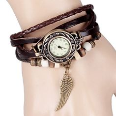Quartz Watch with Wing Design Round Dial and Leather Watch Band for Women sold by Violet Fashion. Shop more products from Violet Fashion on Storenvy, the home of independent small businesses all over the world. Watch Deals, Wings Design, Cool Watches, Women's Watches, Cheap Watches, Watches Online, Jewelry Watches, Leather Watch Bands, Diamond Are A Girls Best Friend
