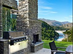 Award Winning House, Luxury House in Queenstown & Lakes, New Zealand House Landscape, Landscape Design, Luxury Accommodation, South Island, Outdoor Furniture, Outdoor Decor, Garden Landscaping, Sun Lounger, Patio