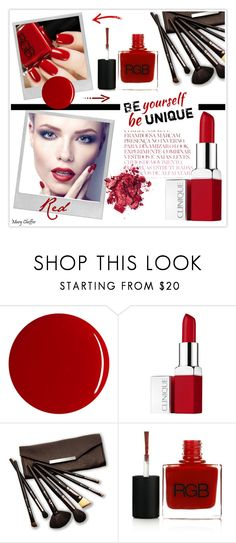 """""""Red Rover, Red Rover"""" by mcheffer ❤ liked on Polyvore featuring beauty, Polaroid, RGB, Clinique and Borghese"""