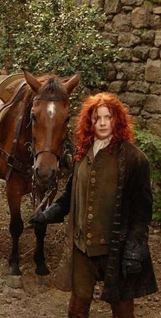 Brianna Fraser rides to Lallybroch dressed as a man.