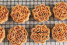 """More Chinese New Year cookies!!! Beehive cookies, honeycomb cookies, kuih loyang, kuih rose or we call it """"kueh lobang"""" (in Hokkien) even..."""