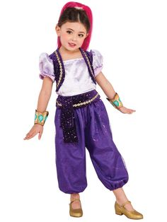Check out Shimmer and Shine Toddler Deluxe Shimmer Costume - Cartoon Characters…