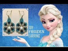 FROZEN theme Earring - DIY - YouTube