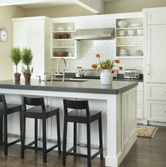 Beautiful White Colors Kitchen