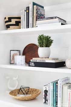 open shelf styling ideas, modern living room with bookcase decor, bookcase styling in neutral built-ins, how to style modern shelves Decoration Inspiration, Room Inspiration, Decor Ideas, Design Inspiration, Interior Inspiration, Diy Ideas, Home Interior, Interior Decorating, Interior Design
