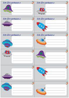 Etiquetas para el cole para imprimir free printable school labels free printables - Etiquetas para el cole ...