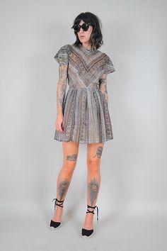 50s sheer CHIFFON snakeskin Dress by NOIROHIOVINTAGE on Etsy