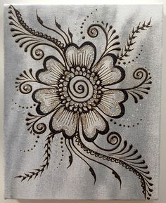 Henna paste and acrylic paint on stretched canvas. Henna Designs, Art Painting, Henna Designs Easy, Painting, Henna Canvas, Flower Drawing, Art, Henna Art, Diy Canvas Art