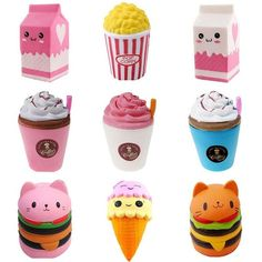 Stress Toys, Stress Relief Toys, Figet Toys, Kids Toys, Cake Squishy, Hero Spiderman, Popcorn Cake, Cool Fidget Toys, Kawaii