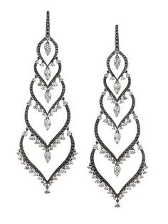Stephen Webster Couture Black & White Diamond 'Russia' Earrings