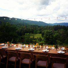 Opening dinner overlooking the Smoky Mountains at the 4th Annual Secret Society Weekend at Blackberry Farm. #GardenandGun