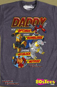Autobots Father's Day Transformers T-Shirt: Transformers Mens T-Shirt Autobot Geeks:  Transformers geeks:  Travel everywhere in this men's style shirt that has been designed with great art and illustration.