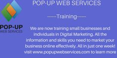 We are now training small businesses and individuals to market their businesses online effectively. 1. SEO 2.Sitemaps and Webmaster tools 3.Keyword research 4. Google Adwords 5.Business Listings 6.Blogging 7. Social Media Marketing 8.Email Marketing 9. Video and Podcast Marketing 10.Content Marketing